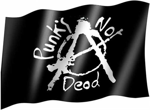 Punks not dead - Fahne