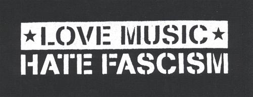 Love Music - Hate Fascism, Aufnäher