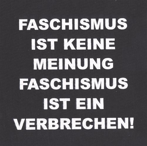 Faschismus ist keine Meinung - Aufnäher