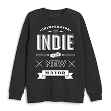 Chimperator -Indie, Sweatshirt black heather
